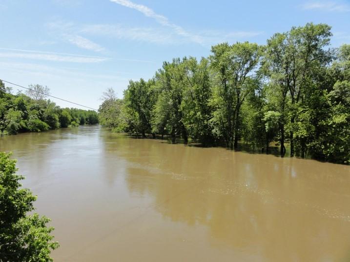 sediment in river